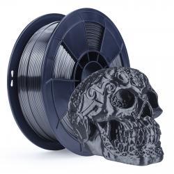 Filament 3D Silk Glossy 1 Kg Argent Noir 1.75 mm