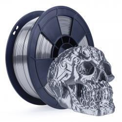 Filament 3D Silk Glossy 500g Argent Gris 1.75 mm