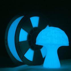 Filament 3D PLA Phosphorescent 500g 1.75 mm Bleu