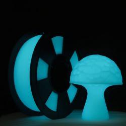 Filament 3D PLA Phosphorescent 500g 1.75 mm Cyan