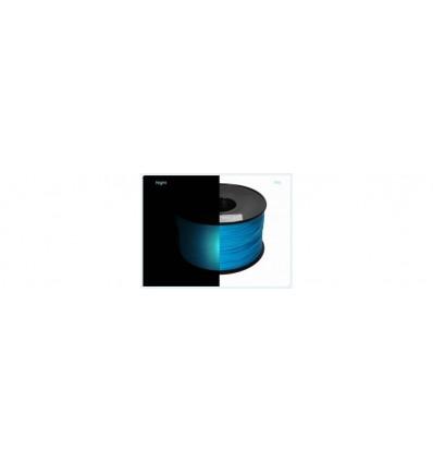 Filament PLA Phosphorescent 1.75 mm Bleu par 10 mètres